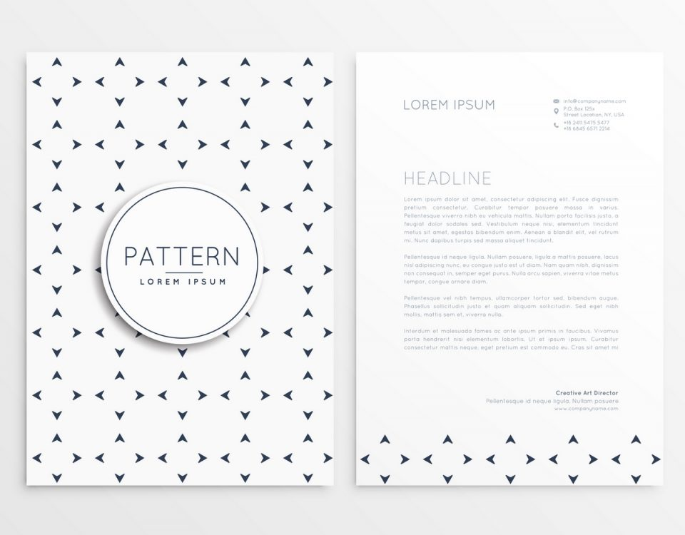 letterhead design with minimal pattern